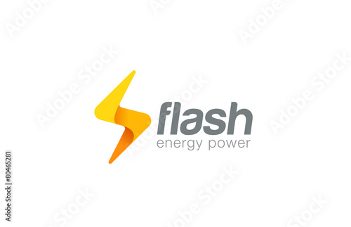 Lighting Bolt Flash Logo Design Vector Fast Quick Icon
