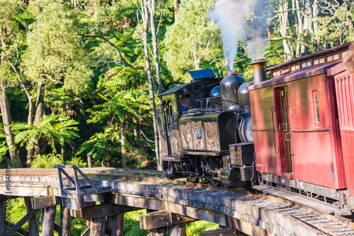 Photo  Puffing Billy steam train