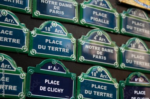 plaques de rues parisienne en miniature Poster