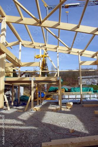 Photo Stands Ship charpente en ossature bois