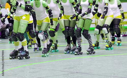 Fotografia match de roller derby