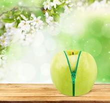 Concept. Diet Concept, Apple Inside Orange
