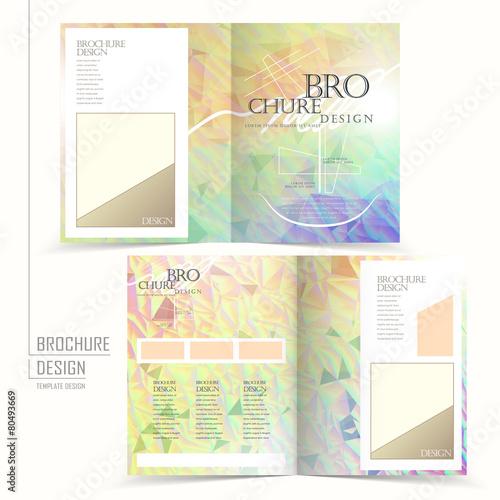 elegant half-fold brochure template design - Buy this stock