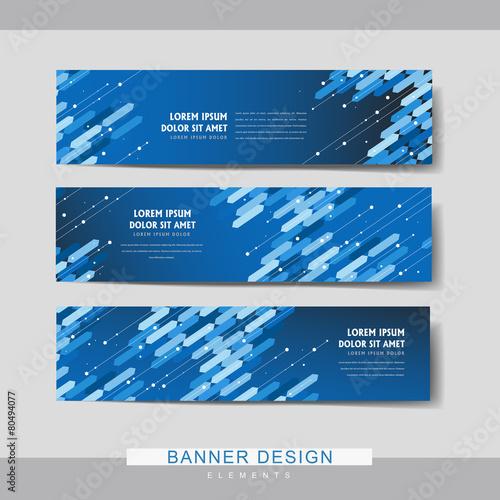 Fotografiet  high-tech banner set template design