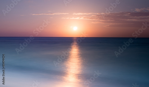 Canvas Prints Sunset Beautiful beach sunrise