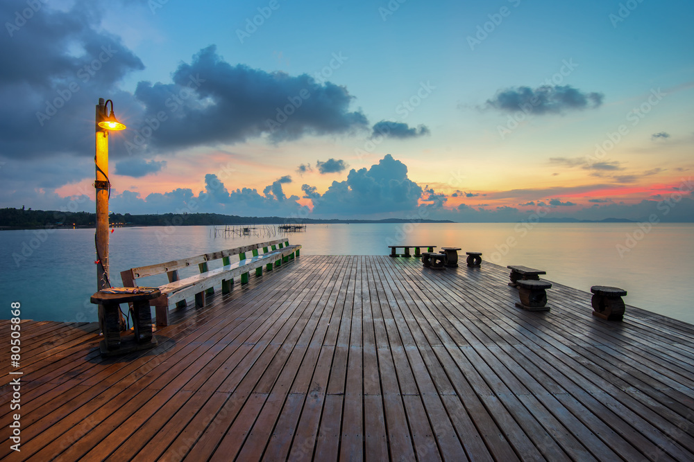 Fototapety, obrazy: The long boardwalks to the sea