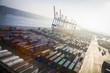 canvas print picture - Containerterminal, Hafen, Deutschland, Hamburg