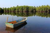 Thai boat in the lake