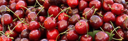 Fotografie, Obraz  Juicy ripe cherries