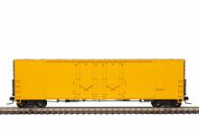 Yellow Railroad Box Car