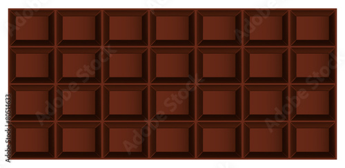 Foto auf AluDibond Ziehen Three-dimensional vector tile dark or milk chocolate top view
