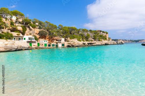 Poster Tropical plage Majorca Cala Llombards Santanyi beach Mallorca
