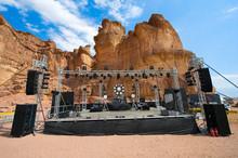 Stage In Desert