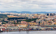 View of the port area of Lisbon - Portugal