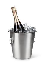Champagne Bottle In A Bucket W...