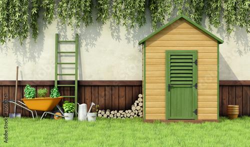 Fotomural Garden shed