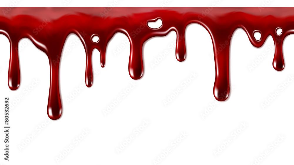 Fotografía  Dripping blood seamless repeatable