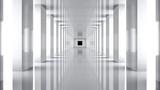 Fototapeta Fototapety do przedpokoju - Futuristic. 3D. Futuristic Hallway