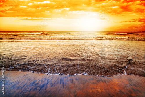 Wilderness Beach at sunset, South Africa
