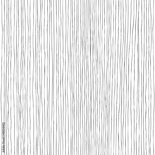 Seamless vertical lines hand-drawn pattern Fototapet
