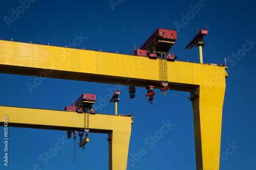 Papel de parede Belfast Cranes