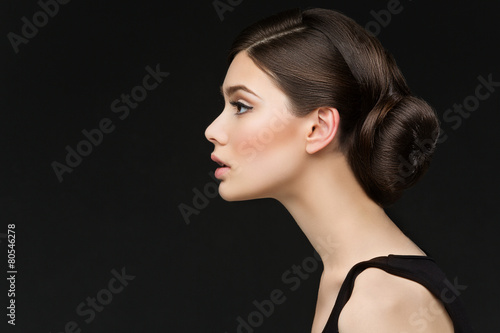 Canvas Print Girl with long neck