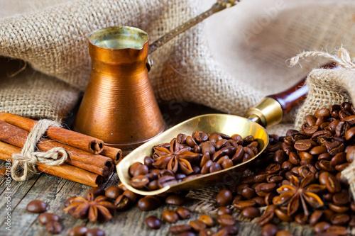 Fototapety, obrazy: Black coffee