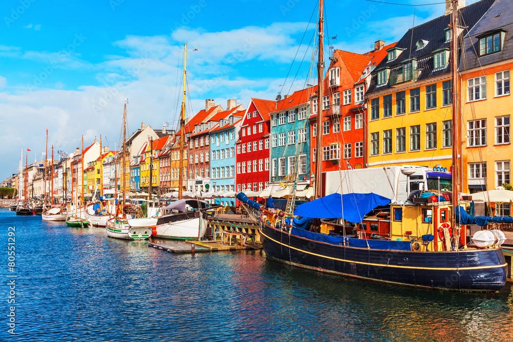 Fényképezés  Nyhavn, Copenhagen, Denmark