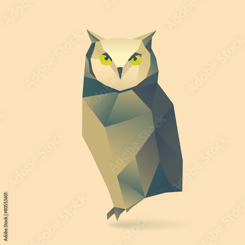 Tuinposter Uilen cartoon owl