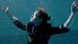 Drowning underwater businesswoman sinking