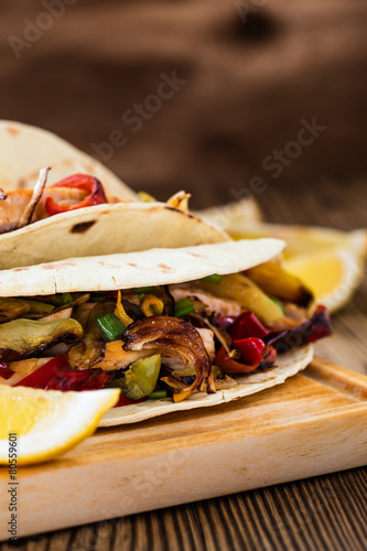 Chicken fajitas Canvas Print