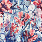 Spring Flowers Seamless Pattern