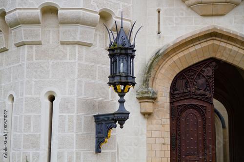 Чехия. Глубока-над-Влтавой. Светильник в Замке Глубока Poster