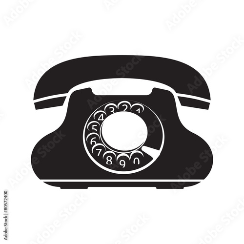 Old telephone vector icon - Buy this stock vector and
