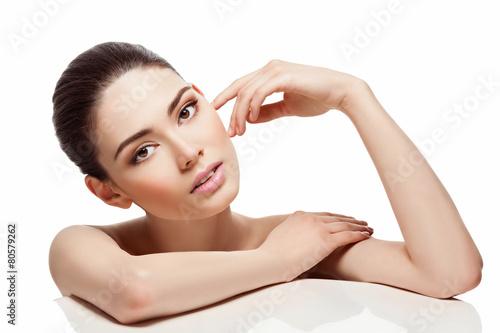 Obraz Beautiful girl with perfect skin - fototapety do salonu