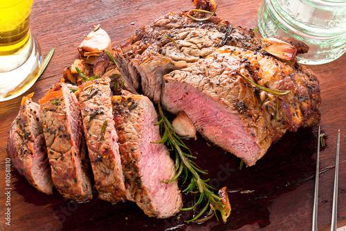 Fotografie, Obraz  entrecote steak braten