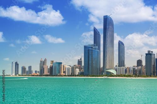 Photo  Cityscape of Abu Dhabi, capital of United Arab Emirates
