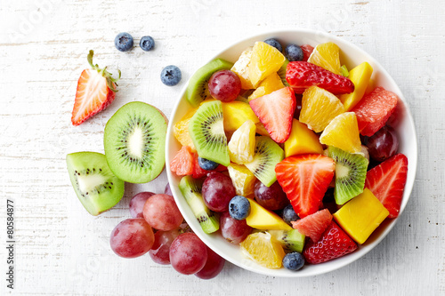 Fresh fruit salad Poster