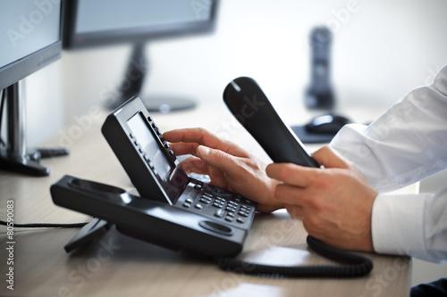 Fotografia  Dialing telephone keypad