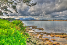 Calik Pond Under A Dramatic Sky In Hdr