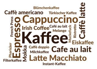 FototapetaWordcloud Kaffee