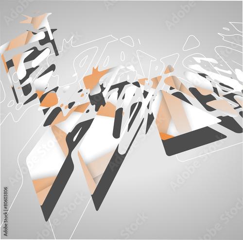 Photo sur Toile Art Studio Futuristic background, geometric illustration.