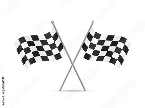 Fotografie, Obraz  Checkered Flags