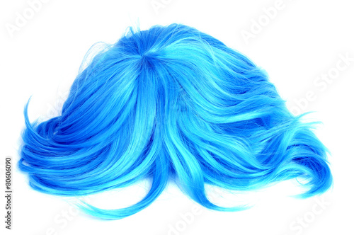 long-haired blue wig Canvas