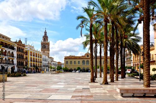 Canvas Prints Abu Dhabi Plaza de España de Écija, Sevilla, Andalucía, España