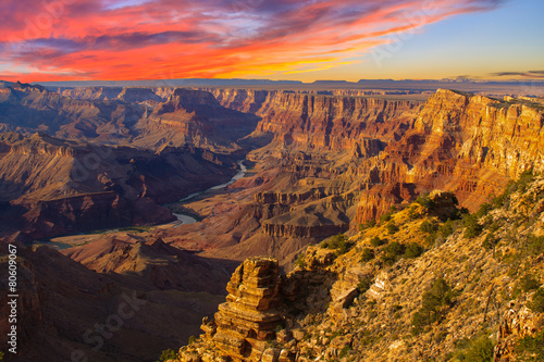 Majestic Vista of the Grand Canyon at Dusk - 80609067