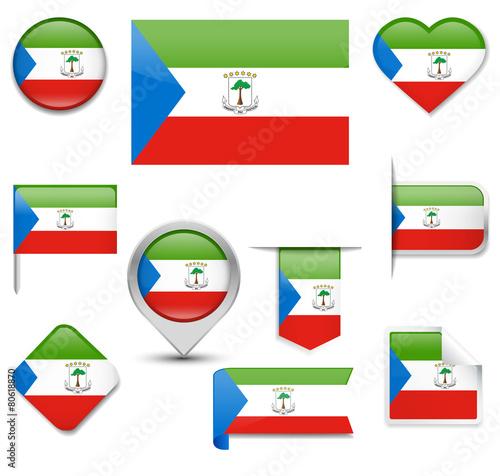 Fotografía  Equatorial Guinea Flag Collection