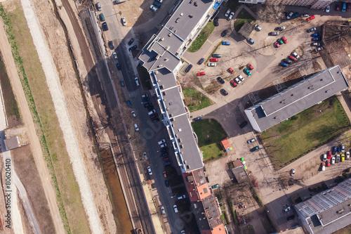 aerial view of wrocław city suburbs © mariusz szczygieł