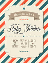 Baby Shower Invitation In Retr...