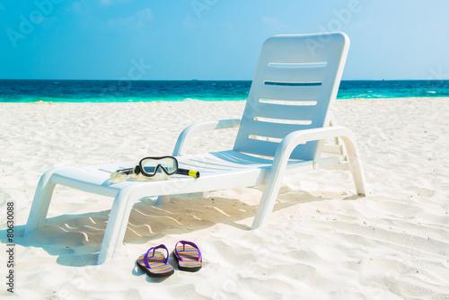 фотография Sand beach and ocean wave, South Male Atoll. Maldives